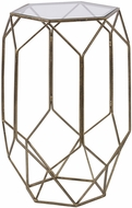 Uttermost 25045 Sanders Modern Lightly Antiqued Gold Sanders Contemporary Accent Table