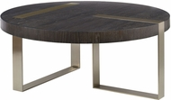 Uttermost 25119 Converge Modern Brushed Pewter and Oak Coffee Table