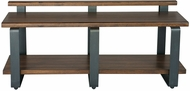 Uttermost 25328 Indio Aged Black Indio Industrial Bench