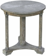 Uttermost 25331 Thema Casual Weathered Gray Oak Thema Weathered Gray Accent Table