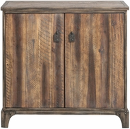 Uttermost 25336 Trevin Light Walnut Stain Rustic Accent Cabinet