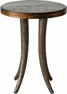 Uttermost 25341 Ezra Heavily Textured Champagne Bronze Round Accent Table