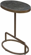 Uttermost 25348 Jessenia Modern Heavily Antiqued Brushed Gold Stone Accent Table