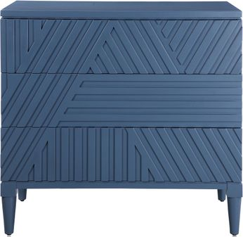 Uttermost 25383 Colby Blue Drawer Chest