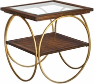 Uttermost 25401 Calissa Contemporary Antique Gold Wood End Table