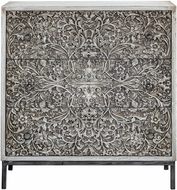 Uttermost 25403 Marina Aged Ivory Marina Carved Accent Chest