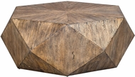 Uttermost 25423 Volker Contemporary Burnished Honey Honey Coffee Table