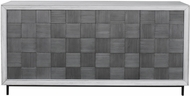 Uttermost 25489 Checkerboard Modern Gray and Black Cabinet