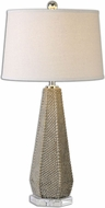 Uttermost 26133 Pontius Taupe 17 Wide Table Light