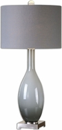 Uttermost 26180 Vallo Polished Nickel Finish 34 Tall Side Table Lamp