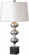 Uttermost 26185 Cloelia Lightly Antiqued Polished Silver Finish 16 Wide Table Lamp Lighting