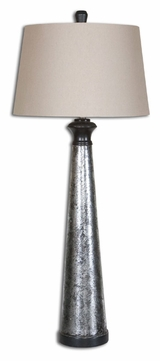 Uttermost 26214 Mustapha Distressed Silver 38.5 Tall Buffet Table Torchiere Lamp