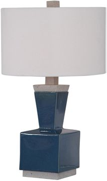 Uttermost 26223-1 Jorris Modern Rich Deep Blue Glaze Table Light