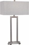 Uttermost 26224 Connell Iron / Plated Brushed Nickel Table Lamp