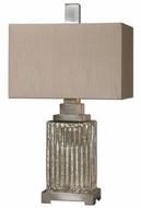 Uttermost 26289-1 Canino 28 Inch Tall Ribbed Mercury Glass Table Lighting