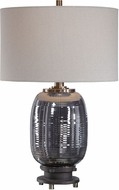 Uttermost 26353-1 Caswell Amber Glass Lighting Table Lamp
