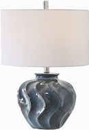 Uttermost 26355-1 Aquilina Aged Blue Table Top Lamp