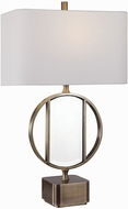 Uttermost 26356-1 Luciana Brass Side Table Lamp