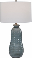Uttermost 26362-1 Zaila Light Blue Table Top Lamp