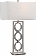 Uttermost 26364-1 Perrin Dark Gray / Brushed Nickel Plated Table Lamp