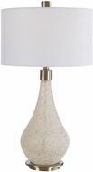 Uttermost 26377-1 Chaya Textured Cream Lighting Table Lamp