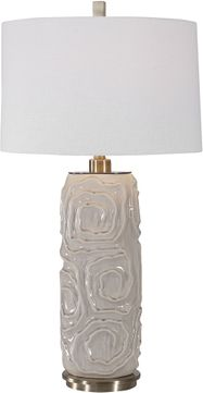 Uttermost 26379-1 Zade Warm Gray Table Lamp