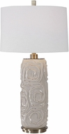 Uttermost 26379-1 Zade Warm Gray Table Top Lamp