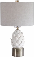 Uttermost 26380-1 White Artichoke Side Table Lamp