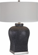 Uttermost 26386-1 Akello Weave Texture Table Lamp Lighting