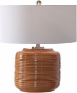 Uttermost 26388-1 Solene Orange Side Table Lamp