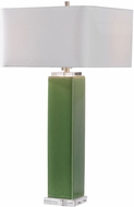 Uttermost 26410-1 Aneeza Tropical Green / Crystal / Brushed Nickel Table Light