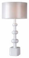 Uttermost 26480-1 Bojano Modern Style Gloss White Lamp - 33 Inches Tall