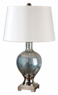 Uttermost 26490 Mafalda Mercury Blue Glass Living Room Table Lamp - 31 Inches Tall
