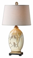 Uttermost 26498 Pajaro Transitional Aged Ivory Ceramic Table Lighting - 32 Inches Tall