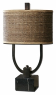 Uttermost 26541-1 Stabina 2 Light Rustic Bronze Table Lamp - 29 Inches Tall