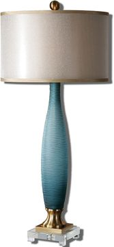 Uttermost 26582-1 Alaia Blue Glass Table Lamp