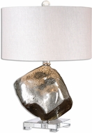 Uttermost 26605-1 Everly Brushed Brass Side Table Lamp