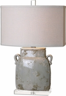 Uttermost 26613-1 Melizzano Ivory-Gray Table Lamp Lighting