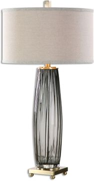 Uttermost 26698-1 Vilminore Gray Glass Table Lamp