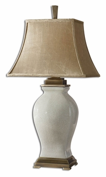 Uttermost 26737 Rory Transitional Porcelain Table Lamp Lighting - Crackled Aged Ivory