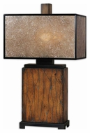 Uttermost 26757-1 Sitka 28 Inch Tall Wooden Square Table Lighting
