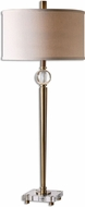 Uttermost 26959-1 Mesita Brushed Brass Buffet Lamp
