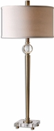 Uttermost 26959-1 Mesita Brass Buffet Lamp
