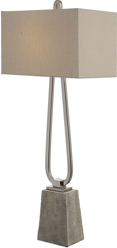 Uttermost 27022 1 Carugo Polished Nickel Buffet Side Table Lamp. Loading  Zoom