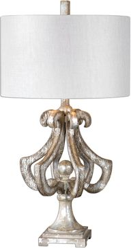 Uttermost 27103-1 Vinadio Distressed Silver Table Lamp
