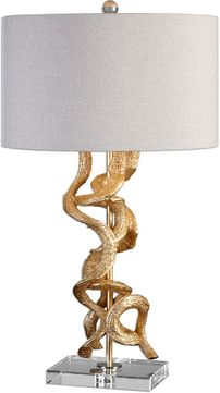Uttermost 27113-1 Twisted Vines Gold Table Lamp