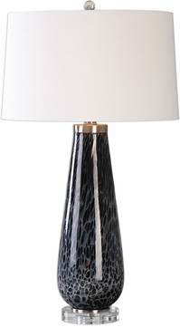 Uttermost 27156 Marchiazza Dark Charcoal Side Table Lamp