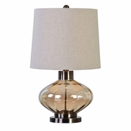 Uttermost 27185-1 Sava Plated Brushed Nickel Table Lamp