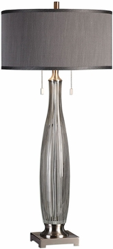 Uttermost 27199 Coloma Gray Glass Buffet Table Lamp
