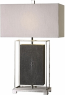 Uttermost 27329-1 Sakana Polished Nickel Plated Gray Textured Table Light